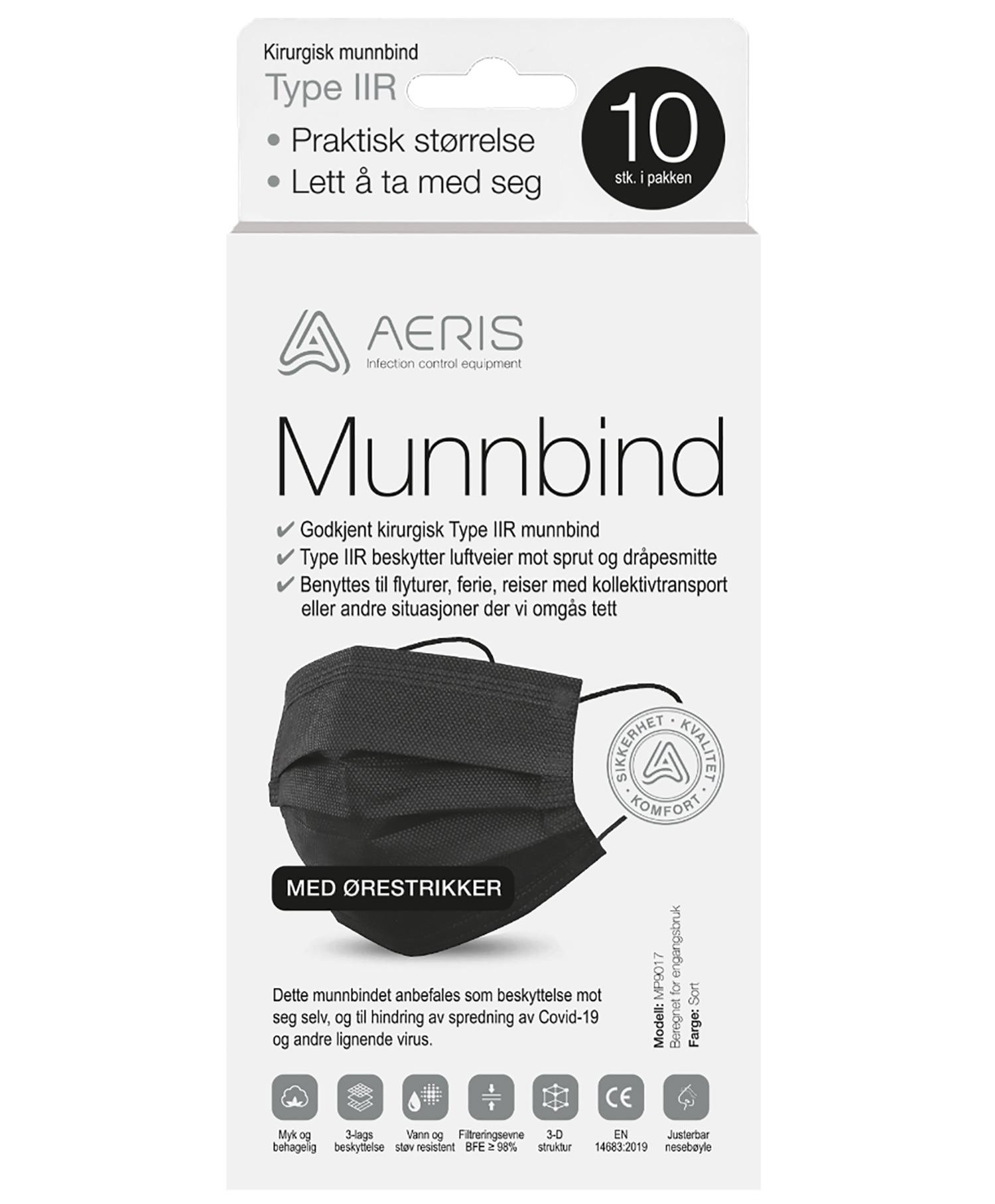 Aeris Munnbind Type 2 Svart
