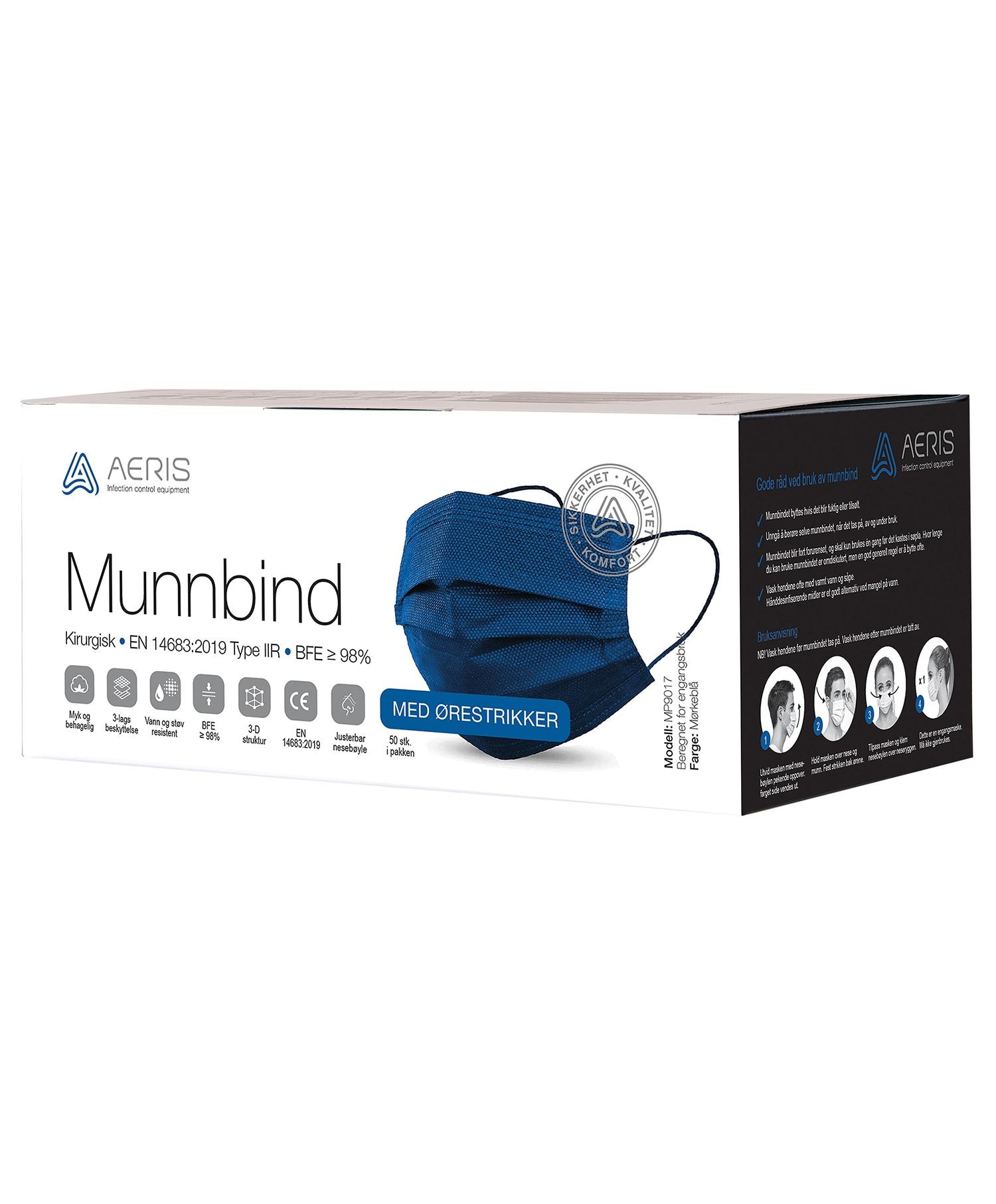 Aeris Munnbind Type 2 Mørk Blå