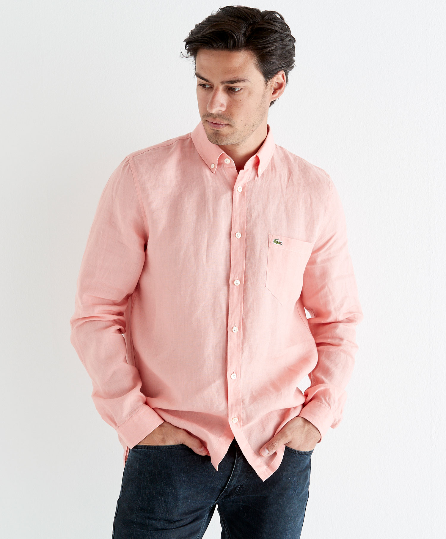 Lacoste lin skjorte