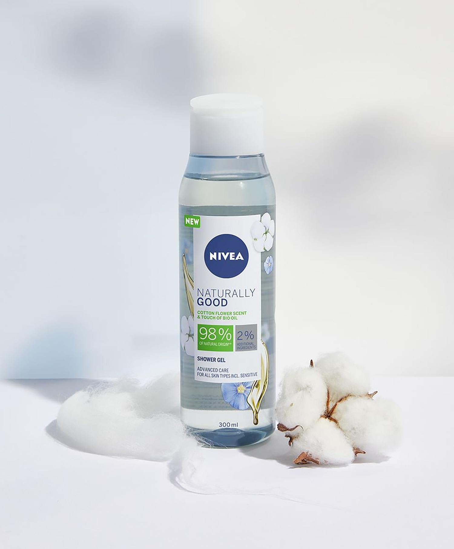 Nivea Shower Naturally Good Cotton