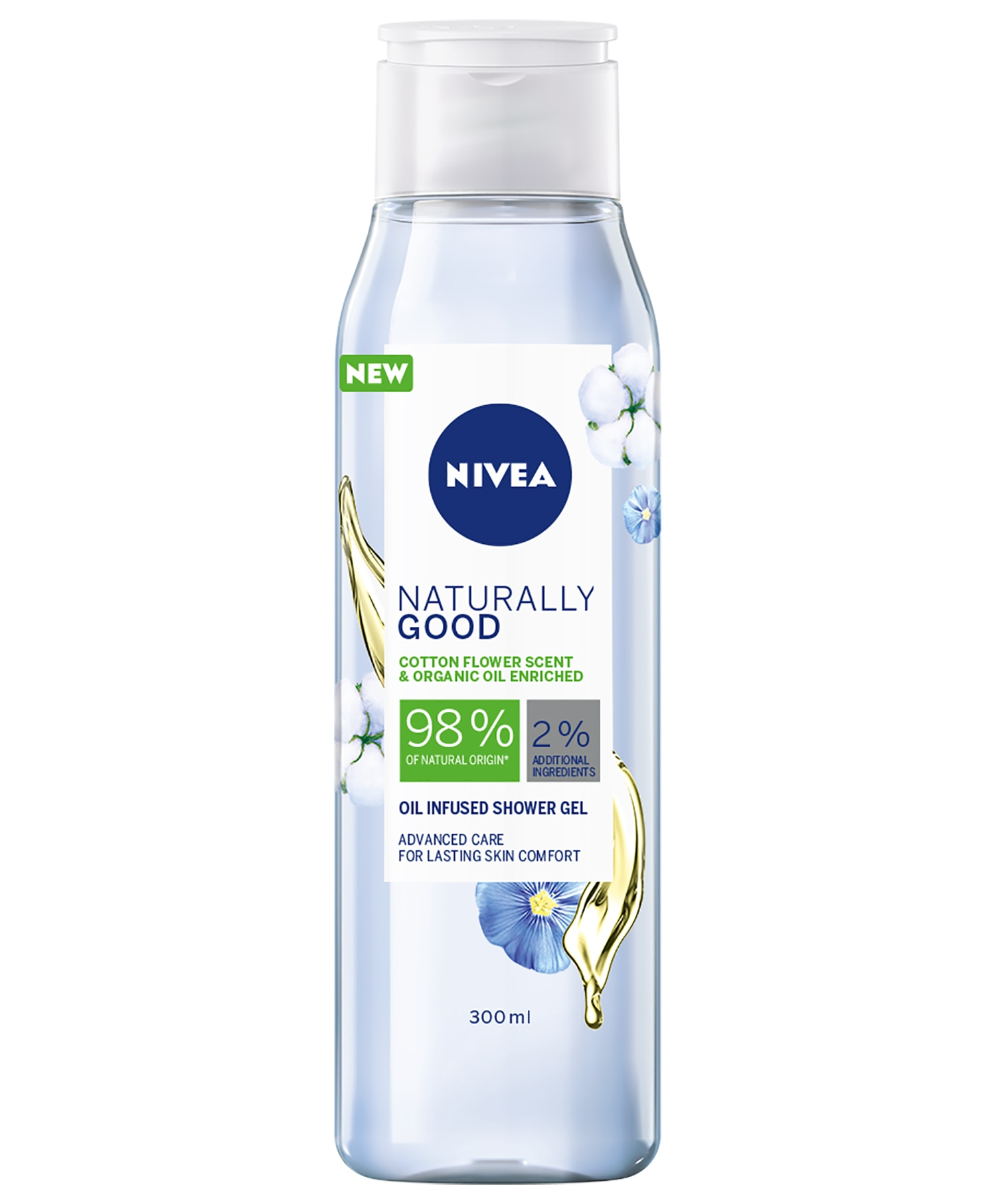 Nivea Shower Naturally Good Cotton