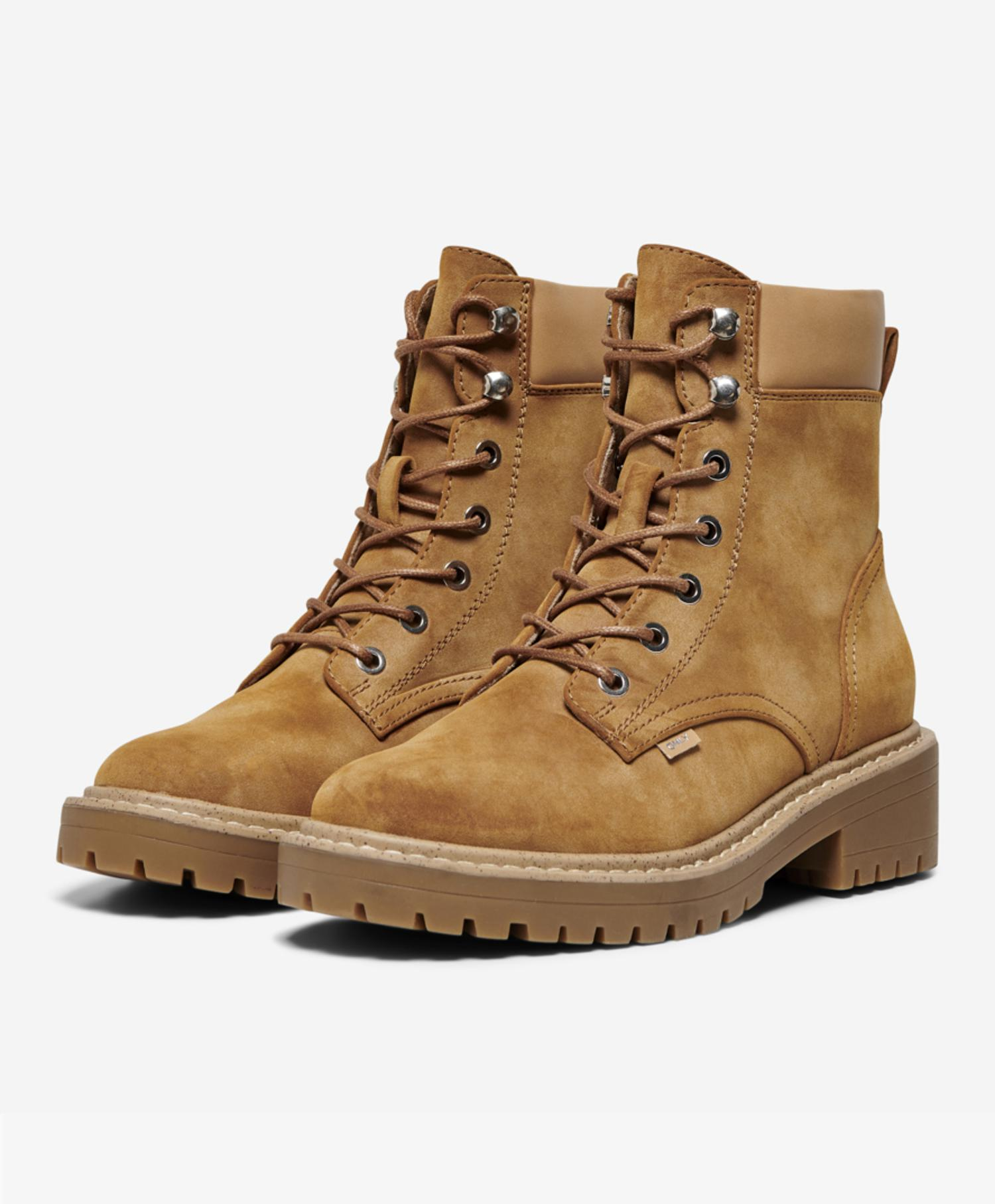 Only Bold  PU Lace UP Boot