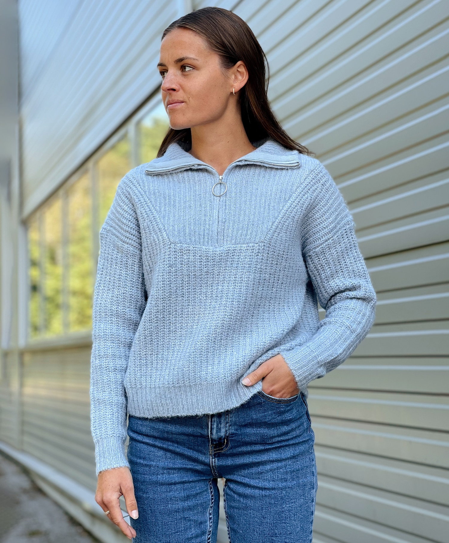 Only Emely zip pullover