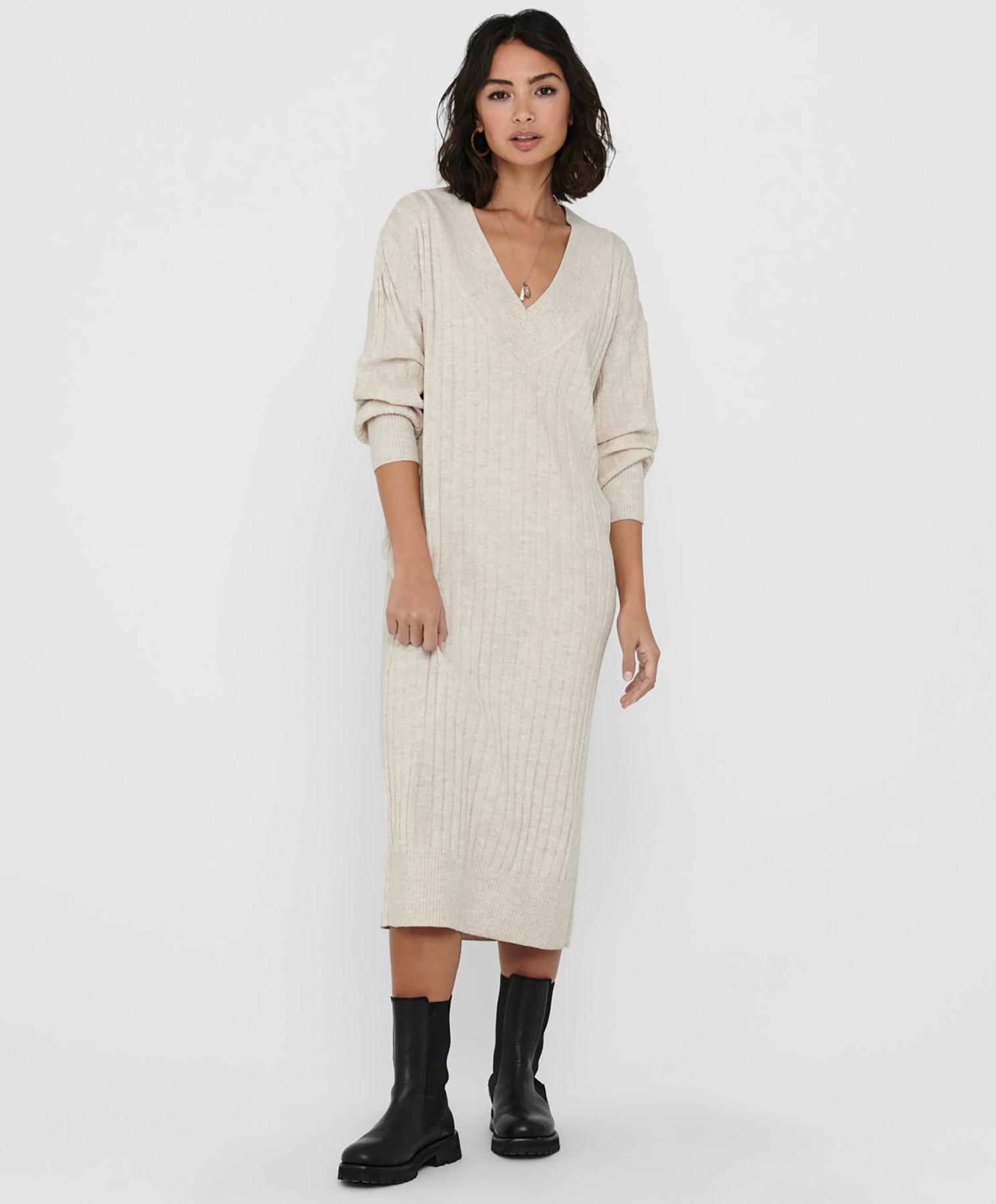 Only Tessa V-neck kjole