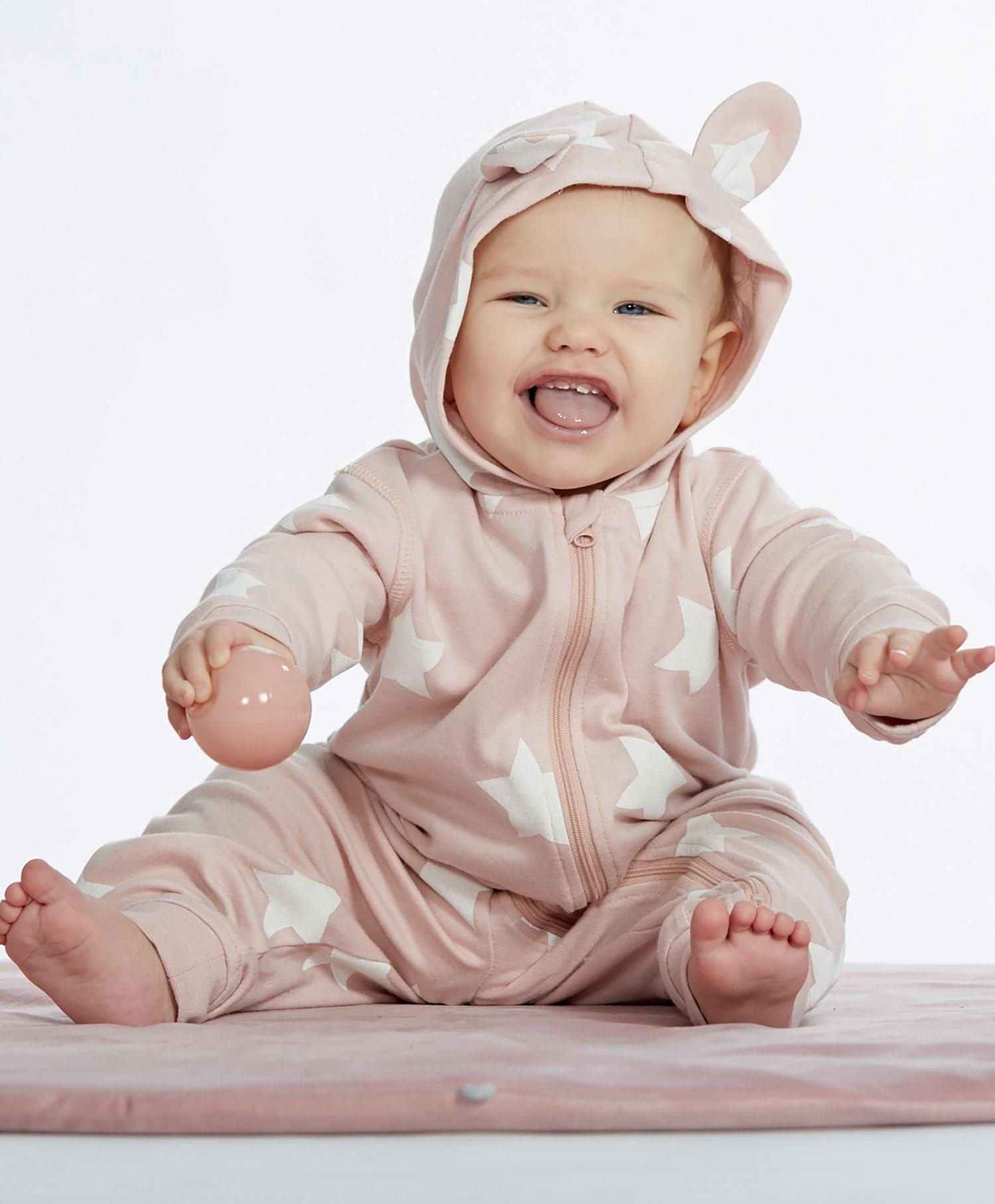 Baby overall med hette
