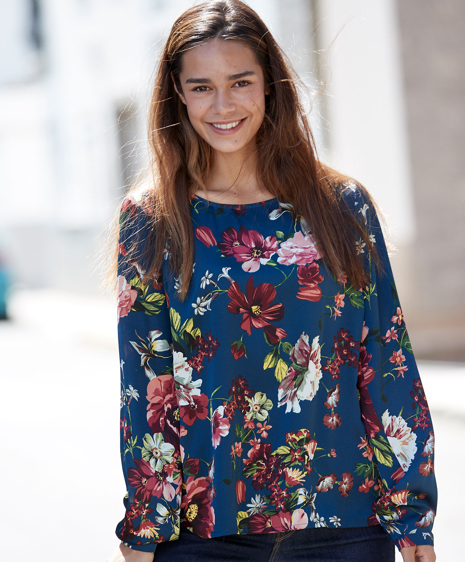 Redhill blomstret bluse